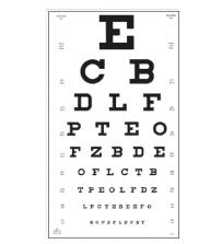 Sehprobentafel Buchstaben, Visus = 0,10 - 1,25